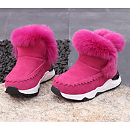 cheap Girls' Shoes-Girls' Shoes Suede Winter Snow Boots Comfort Boots for Casual Black Gray Pink