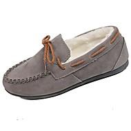 ieftine Pantofi Barcă de Damă-Damă Pantofi Piele de Căprioară Toamnă Confortabili Încălțăminte de Barcă Toc Plat Vârf rotund Funde Pentru Casual Negru Gri Maro Rosu Roz