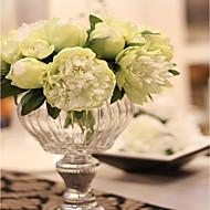 5 şube İpek Şakayıklar Masaüstü Çiçeği Yapay Çiçekler