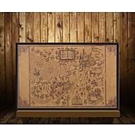 ハリー・ポッター映画ポスターの装飾フレームなしの古代の壁のステッカーを復元するwizardingの世界の地図