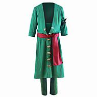 Inspireret af En del Roronoa Zoro Anime Cosplay Kostumer Cosplay Kostumer Ensfarvet Frakke Bukser Til Herre
