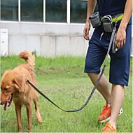 犬 リード ハンズフリーリーシュ トレーナー 反射 携帯用 高通気性 調整可能 ソリッド ナイロン ブラック グレー レッド