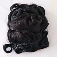 vervangende systemen zwitserse kant en pu poly kant en rug natuurlijke kleur haar toupee mannen haar stuk voorraad 130% dichtheid