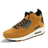 Men's Shoes Leatherette Spring Fall Comfort Sneakers Lace-up For Casual Brown Yellow Gray Black