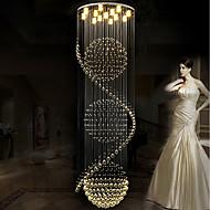 tanie -Żyrandol Downlight Galwanizowany Metal Kryształ, Zawiera żarówkę, projektanci 110-120V / 220-240V Ciepła biel / Chłodna biel Zawiera żarówkę / GU10