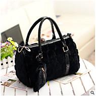 Damen Taschen Ganzjährig Pelz Bag Set 2 Stück Geldbörse Set Reißverschluss für Normal Weiß Schwarz Beige Fuchsia