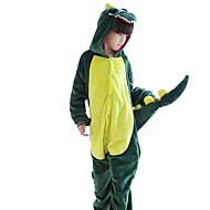 Kinder Cosplay Kostüme Kigurumi-Pyjamas Dinosaurier Pyjamas-Einteiler Flanell Grün / Rosa Cosplay Für Jungen und Mädchen Tiernachtwäsche Karikatur Fest / Feiertage Kostüme