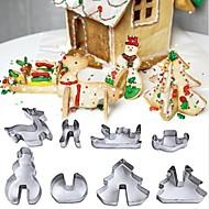 billige -Bakeware verktøy Rustfritt Stål Non-Stick / Jul Til Småkake Cookieverktøy 1set
