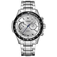 CURREN Heren Sporthorloge Modieus horloge Polshorloge Kwarts Roestvrij staal Band Luxueus Cool Vrijetijdsschoenen Zilver