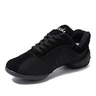 Men's Dance Sneakers Canvas Split Sole Daily Customized Heel Black Customizable