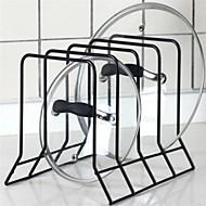1pç Titulares da tampa do pote Metal Fácil Uso Organização de cozinha