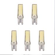 baratos Luzes LED de Dois Pinos-5pçs 4W 1lm G9 Luminárias de LED  Duplo-Pin 1 Contas LED COB Branco Quente Branco Frio 220-240V