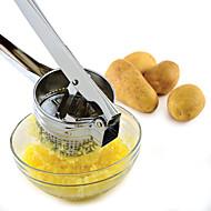 baratos Utensílios de Fruta e Vegetais-espremedor de batata de aço inoxidável espremedor manual de batata ricer espremedor de frutas cozidas