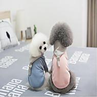 Χαμηλού Κόστους Χριστουγεννιάτικα κοστούμια για κατοικ-Χριστούγεννα Ρούχα για σκύλους Μονόχρωμο Μπλε Ροζ Βαμβάκι Στολές Για κατοικίδια Καθημερινά