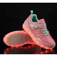 Para Meninas sapatos Couro Ecológico Tule Primavera Outono Conforto Tênis Para Casual Preto Azul Rosa claro