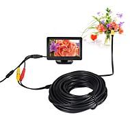 billige Overvåkningskameraer-av endoskop kamera 5v 10mm linse mini kamera vanntett ip66 inspeksjon borescope slange pipe kamera nattesyn 20m kabel