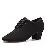 baratos Sapatilhas de Dança-Mulheres Sapatos de Dança Moderna Oxford Salto Salto Cubano Sapatos de Dança Preto / Interior