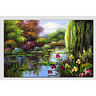 cheap Oil Paintings-Oil Painting Hand Painted - Landscape Classic Canvas