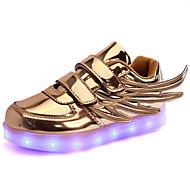 tanie Obuwie chłopięce-Dla chłopców Buty PU Wiosna Jesień Świecące buty Zabawne Comfort Tenisówki LED Tasiemka na Casual Na wolnym powietrzu Gold Silver Różowy
