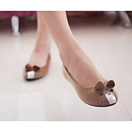 cheap Women's Flats-Women's Shoes Nubuck leather Spring Summer Ballerina Flats For Casual Brown Purple Black White