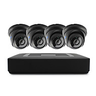 4CH 1080N DVR kits 4pcs Dome CCTV Camera Security System Indoor Day Night IR-CUT 3.6mm
