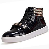 baratos Sapatos Masculinos-Homens Couro Sintético / Couro Envernizado Outono / Inverno Conforto Tênis Branco / Preto / Vermelho