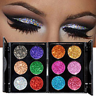 cheap Eye Shadows-1pc 6 Colors Eyeshadow Palette Shimmer Eyeshadow palette Powder Cosmetic Makeup for Eye Makeup 2 Stysles for Selection