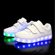 tanie Obuwie chłopięce-Dla chłopców Obuwie PU Jesień / Zima Świecące buty Tenisówki LED na Biały / Czarny