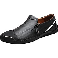 Men's Shoes PU Spring Fall Comfort Loafers & Slip-Ons Lace-up For Casual Brown Black