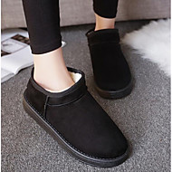 Women's Shoes PU Fabric Winter Snow Boots Fashion Boots Boots Flat Heel Booties/Ankle Boots For Casual Blushing Pink Coffee Gray Black
