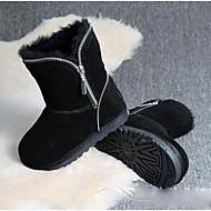 女の子 靴 フェザー/ファー 冬 スノーブーツ ブーツ ブーティー/アンクルブーツ 用途 カジュアル ブラック グレー アーミーグリーン