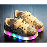 Girls' Shoes PU Fall Winter Comfort Sneakers For Casual Gold Silver Red