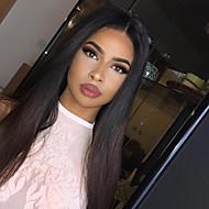 Remy kosa Lace Front Perika Ravan kroj S mldom kosom 130% Gustoća Središnji dio Sew in Kratko Medium Dug Žene