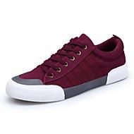 Muškarci Cipele Filc PU Proljeće Jesen Udobne cipele Sneakers za Kauzalni Crn Sive boje Crvena Zelena i plava