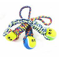犬 犬用おもちゃ ペット用おもちゃ 噛む用おもちゃ テニスボール コットン ペット用