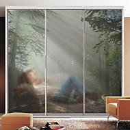 tanie סרטים ומדבקות לחלון-Folie okienne i naklejki Dekoracja Sceneria Art Deco PVC / Vinyl Naklejka okienna / Salon
