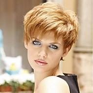 Naisten Ihmisen hiukset Capless Peruukit Musta Medium Auburn Beige Blonde // Bleach Blonde Lyhyt Suora Sivuosa
