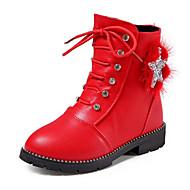 女の子 靴 レザーレット 秋 冬 コンフォートシューズ コンバットブーツ ブーツ 用途 カジュアル ブラック レッド ピンク ワイン