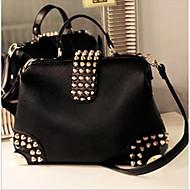 Women Bags All Seasons PU Tote Zipper for Casual Black