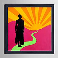 billige Innrammet kunst-folk abstrakt fantasi Innrammet Lerret Innrammet Sett Veggkunst,PVC Materiale med ramme For Hjem Dekor Rammekunst Stue Kjøkken Spisestue