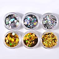 coloridas lantejoulas shell colorida decoração de arte 6pcs / set