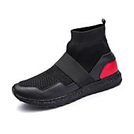 お買い得  ウォーキング-メンズ 靴 コンフォートシューズ スノーブーツ 乗馬靴 ファッションブーツ ブーティー コンバットブーツ 前かがみのブーツ ウォーキング ブーティー/アンクルブーツ のために カジュアル ホワイト ブラック ブラック/レッド