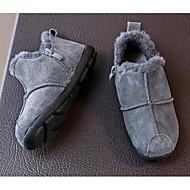 tanie Obuwie chłopięce-Dla chłopców Obuwie Skóra Zima Wygoda Mokasyny i buty wsuwane na Czarny / Szary / Zielony