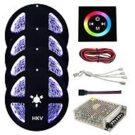 billiga Belysning-HKV 20m Ljusuppsättningar lysdioder 5050 SMD RGB Klippbar / Bimbar / Kopplingsbar 110-220 V 1set / Självhäftande / Färgskiftande