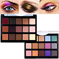Pro 15 Color Matte&Shimmer Waterproof Eyeshadow Powder Kit Earth Tone Smoky Eye Shadow Makeup Cosmetic Palette