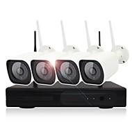 halpa -yanse® 4ch langaton nvr kit 1.3mp vedenpitävä yönäkö turvallisuus ip kamera 36leds wifi valvonta CCTV järjestelmä