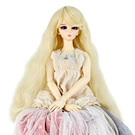 Naisten Synteettiset peruukit Suojuksettomat Pitkä Kinky Curly Blonde Doll Wig Rooliasu peruukki