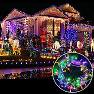 brelong 6.5w 100-led gordijn licht / / bruiloft / feest achtergrond decoratieve verlichting / familie tuin / (10m / eu) 1pcs