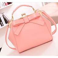 Women Bags PU Shoulder Bag Zipper for Casual All Seasons White Black Blushing Pink