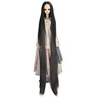 Naisten Synteettiset peruukit Suojuksettomat Hyvin pitkä Kinky Straight Harmaa Doll Wig Rooliasu peruukki
